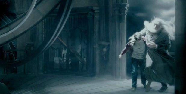 Harry Potter y Dumbledore de parranda en Harry Potter and the Half-Blood Prince