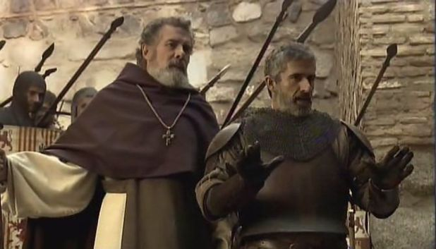 Isabel 3x07 - Talavera y Cabrera deteniendo el conato de revuelta en Granada