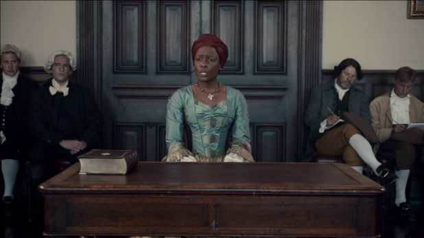 Crítica de The Book of Negroes de CBC y BET - Aminata es llamada a declarar
