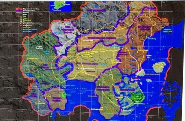 El supuesto mapa de Red Dead Redemption 2