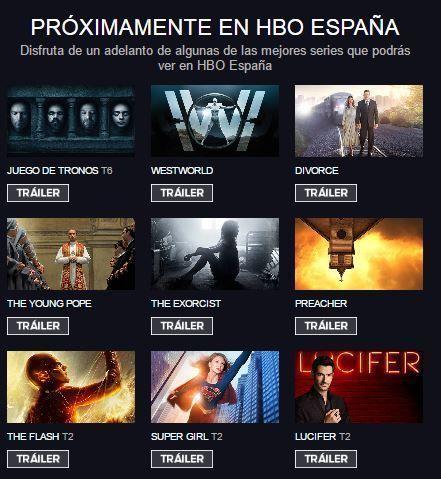Catálogo HBO España - Próximos estrenos