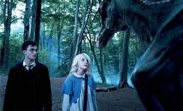"DANIEL RADCLIFFE as Harry Potter and EVANNA LYNCH as Luna Lovegood in Warner Bros. Pictures' fantasy ""Harry Potter and the Order of the Phoenix."" PHOTOGRAPHS TO BE USED SOLELY FOR ADVERTISING, PROMOTION, PUBLICITY OR REVIEWS OF THIS SPECIFIC MOTION PICTURE AND TO REMAIN THE PROPERTY OF THE STUDIO. NOT FOR SALE OR REDISTRIBUTION"