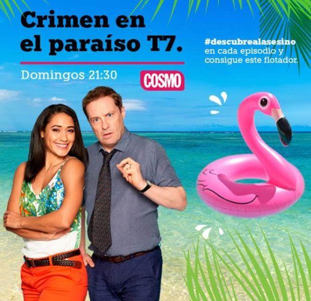 Consigue un flotador flamenco con 'Crimen en el Paraíso'. Nuevo concurso en las redes sociales de Cosmopolitantv.es
