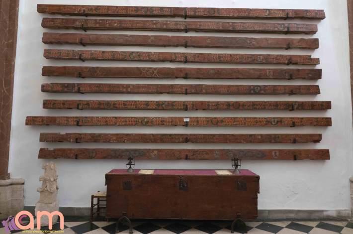 Chinchilla-Iglesia de Santa María del Salvador- Restos de Alfarje-2-2