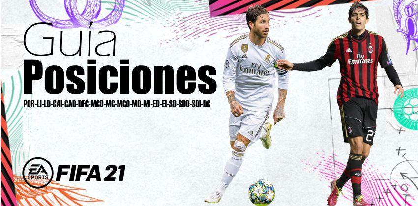 Posiciones de jugadores Fifa 21