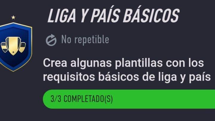 Desafío de Creación de Plantillas Fifa 21… Liga y País Básicos