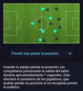 Estilo Defensivo Presión tras perder el balón Fifa 21