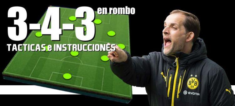 Táctica 3-4-3 En Rombo