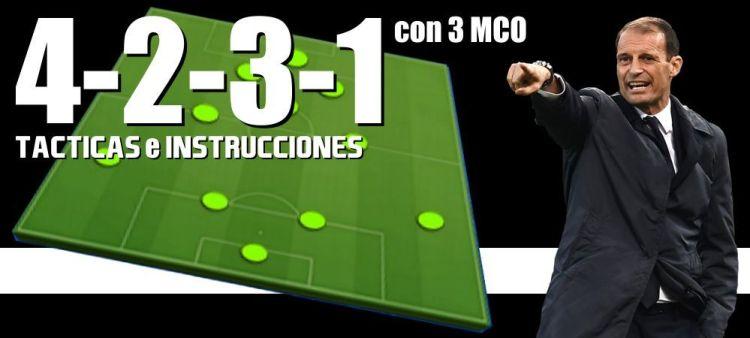Táctica 4-2-3-1 Con 3 MCO