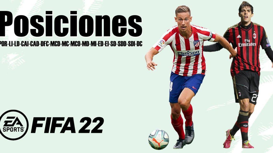 Posiciones de Jugadores Fifa 22