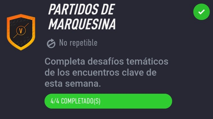 Partidos de Marquesina Fifa 22