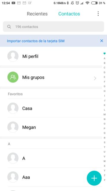 Nueva app de contactos