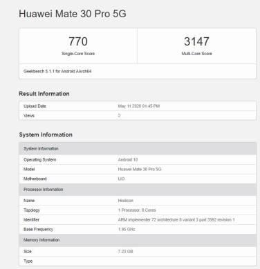 Huawei-Mate-30-Pro-5G-Geekbench