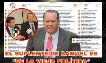 Y QUÉ SUCEDE CON EL SUPLENTE DE SAMUEL GARCÍA, LUIS DAVID ORTIZ, VOTANDO EN SINTONÍA CON MORENA A FAVOR DEL BIG BROTHER TELEFÓNICO<br>