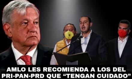 """TRAS QUEJARSE EN LA OEA; ADVIERTE LÓPEZ OBRADOR A DIRIGENTES DEL PRI, PAN, Y PRD, QUE """"TENGAN CUIDADO"""" NO VAYAN A ESTAR INVOLUCRADOS EN EL CASO DE GENARO GARCÍA LUNA"""