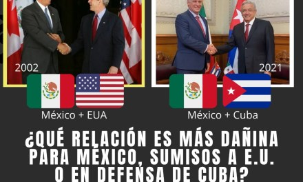 """DE LA SUMISIÓN DE VICENTE FOX ANTE ESTADOS UNIDOS CON EL FAMOSO """"COMES Y TE VAS"""" DEDICADO AL PRESIDENTE CUBANO, A LA PROTECCIÓN DE LÓPEZ OBRADOR A CUBA ¿QUÉ LE HACE MÁS DAÑO A MÉXICO?"""
