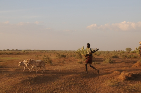 Turkana shepherd - Very sad to see how they are all trading their canes for AK47s?