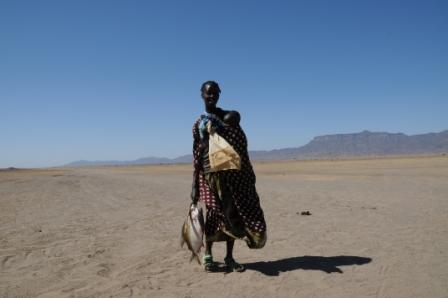 Turkana woman with fish