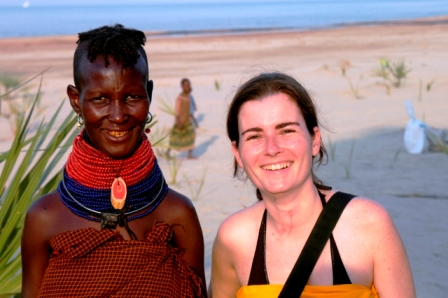 Ile Springs, Turkana, 2007. Mary, whom I see every year... Oh, and I can see a nairobi fly bite on my neck. How painful!