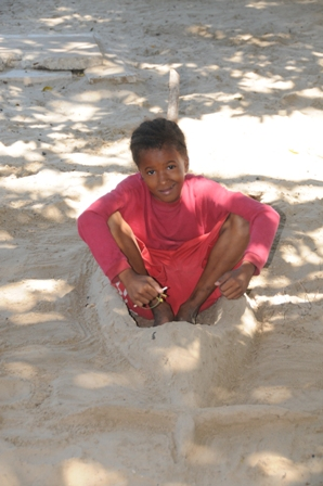 Shekha, 11. Arrived at Anidan weak and undernourished and now is one of the leaders of the family