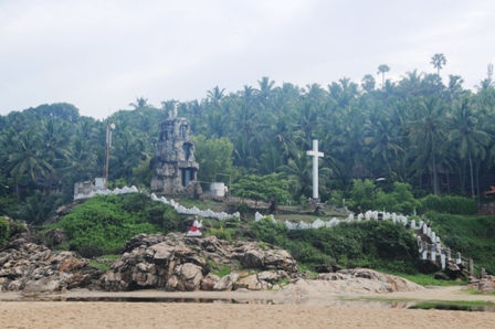 Kovalan, Kerala, India - Somatheeram Health Resort, seen from the beach