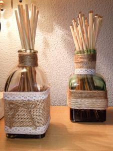 Reciclar botellas de cristal para ambientador Mikado