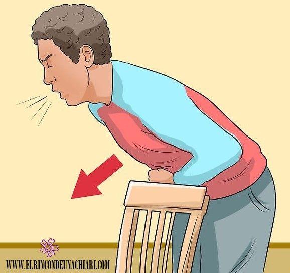 Maniobra de Heimlich aplicado a uno mismo