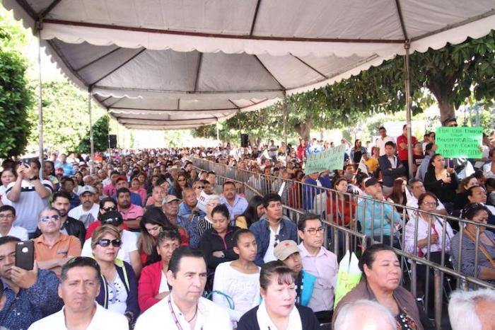 Asistentes al mitin de López Obrador en Lagos de Moreno. Foto: cortesía de MORENA