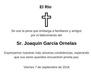 Esquela Joaquín García Infante