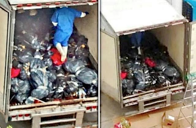 Caja de trailer con muertos en Guadalajara.