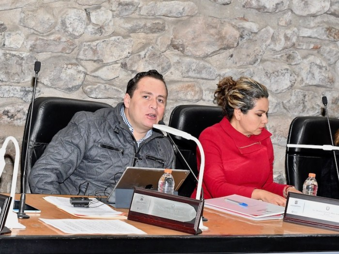Hugo René en la aprobación del Presupuesto de Egresos 2019 del Gobierno de Lagos de Moreno. Foto: Sergio Hernández Márquez