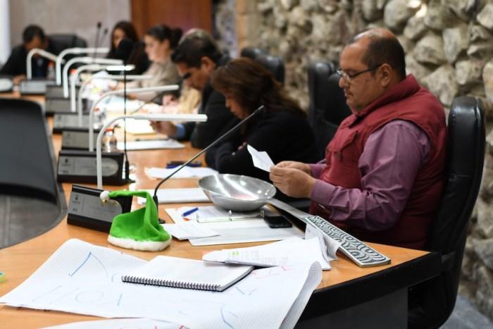 Gerardo Sánchez en la aprobación del Presupuesto de Egresos 2019 del Gobierno de Lagos de Moreno. Foto: Sergio Hernández Márquez