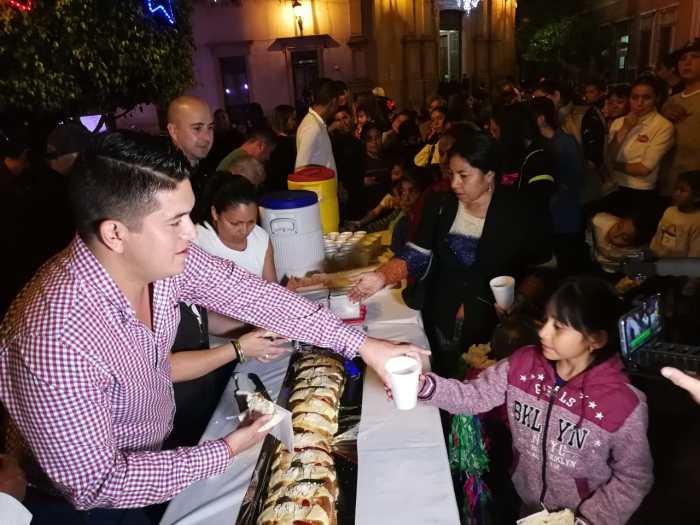 Tecutli Gómez en el festejo del Día de Reyes. Foto: Sergio Hernández Márquez