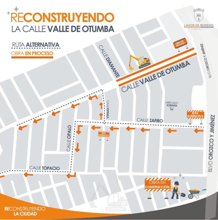 Remodelación calle Valle de Otumba en Lagos de Moreno
