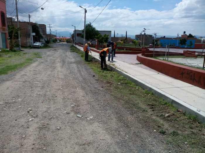 Mantenimiento de espacios públicos en Lagos de Moreno