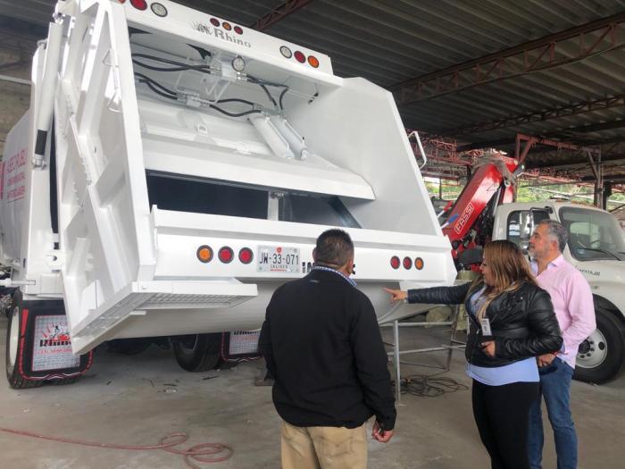 Nuevos camiones recolectores de basura de la empresa Enerwaste en Lagos de Moreno