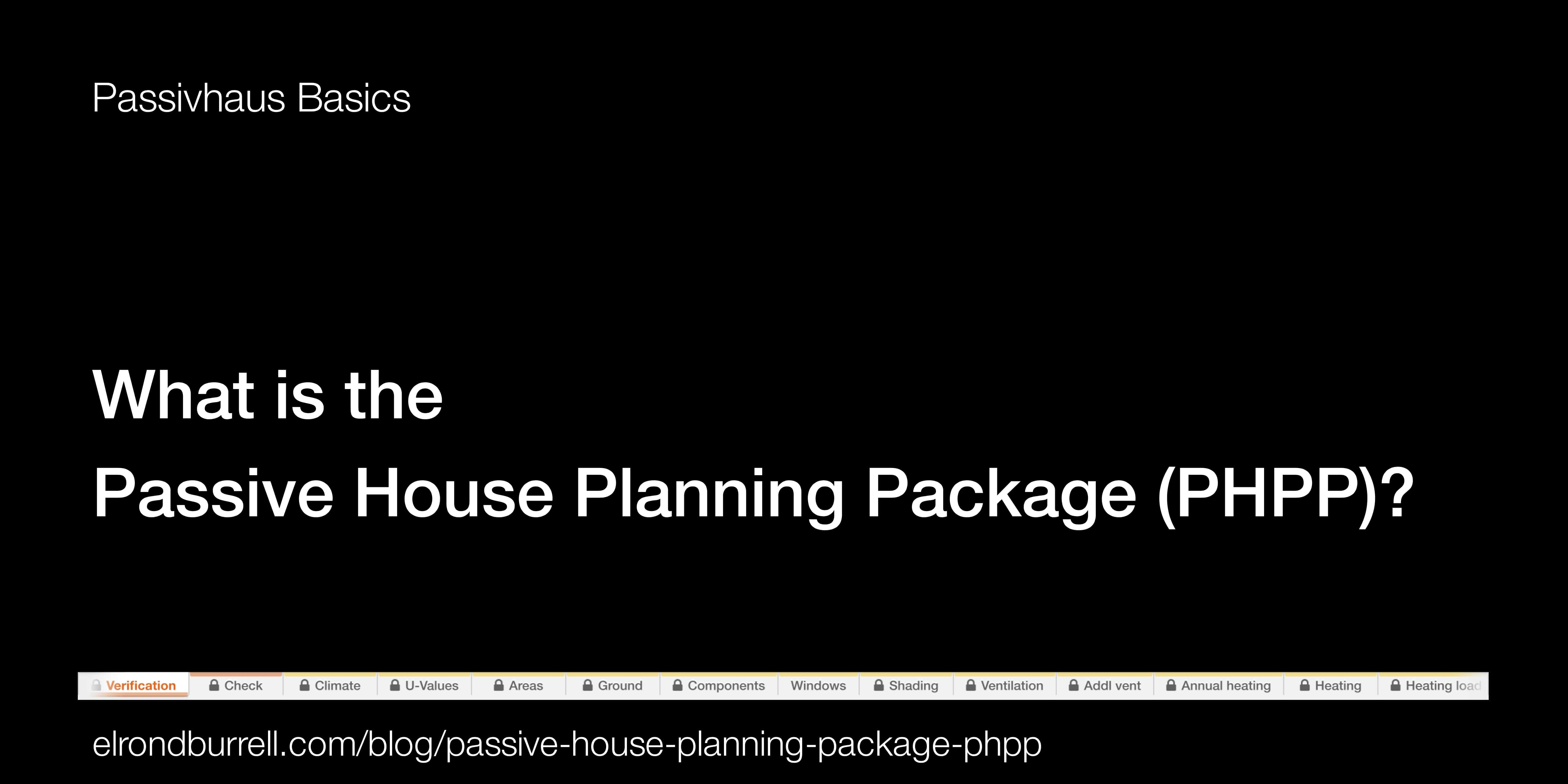 What Is The Passive House Planning Package Phpp