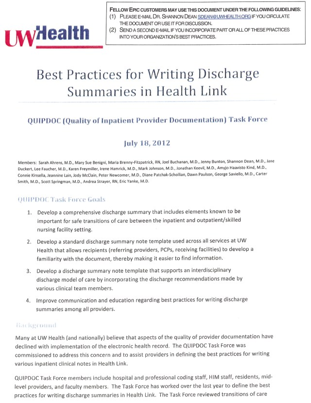 Design and Hospitalwide Implementation of a Standardized Discharge