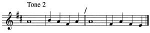 Psalm Tone 2
