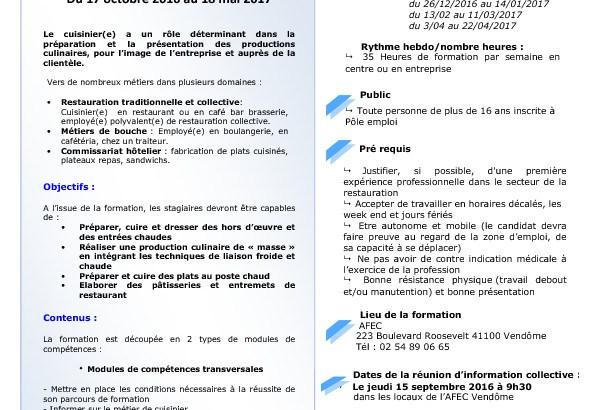 thumbnail of Fiche action Titre Cuisinier Vendôme