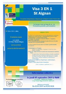 thumbnail of ACTION VISA 3EN 1 ST AIGNAN
