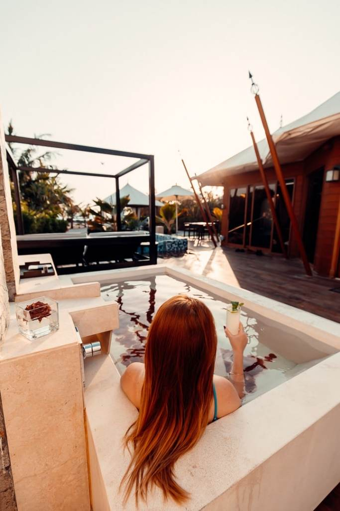 outdoor bath ritz carlton