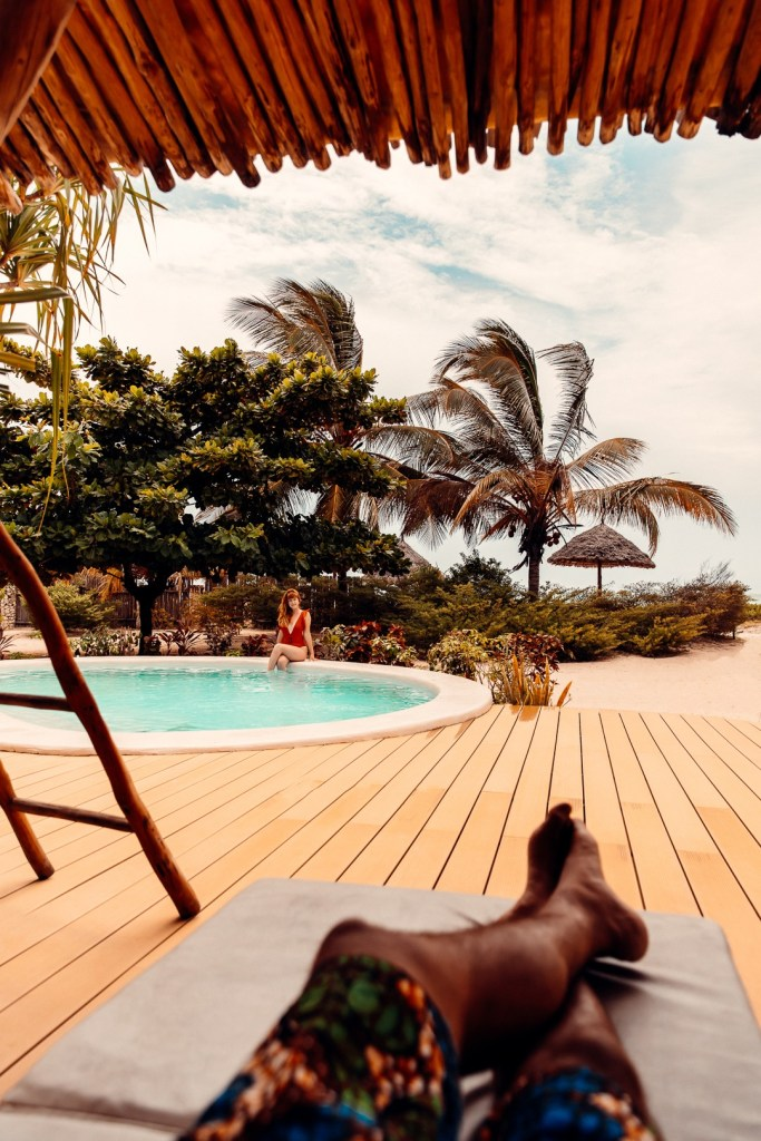 piscine villa White Sand zanzibar