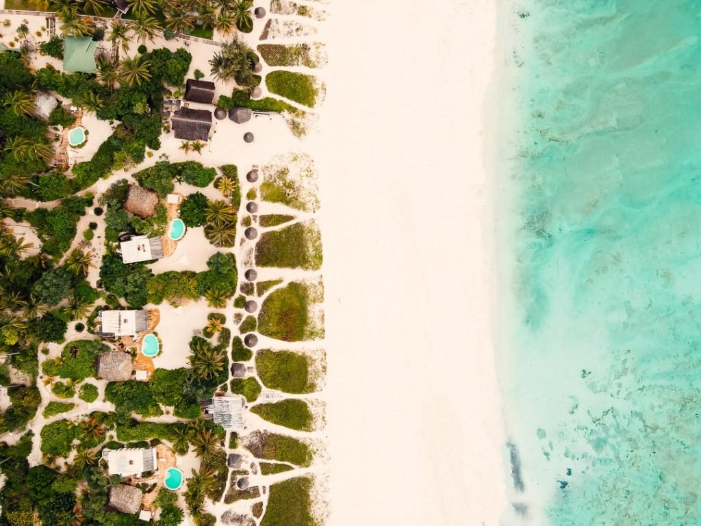 Drone white sand