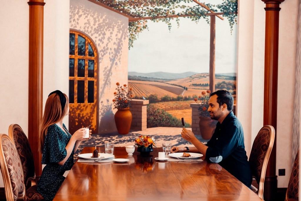 salle privée restaurant villa toscana abou dhabi