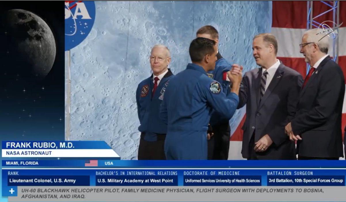 Resultado de imagen para El salvadoreño Frank Rubio se graduó como astronauta de la NASA