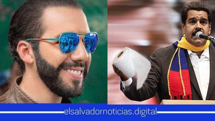 Bukele recomienda a diplomáticos expulsados llevar papel higiénico a Venezuela