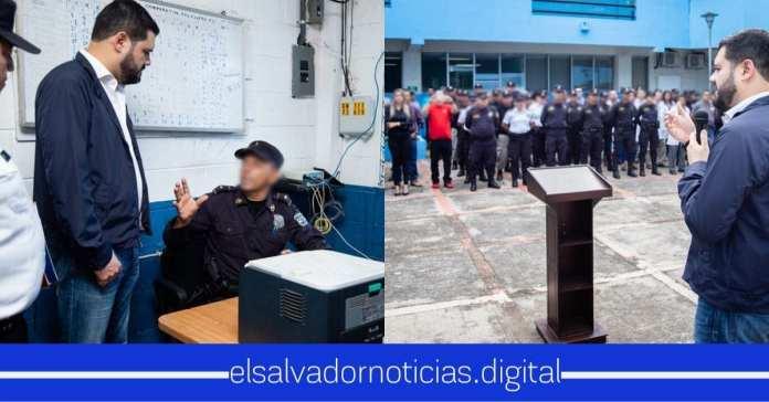 Rogelio Rivas hace recorrido en puestos y delegaciones de PNC en el departamento de Santa Ana