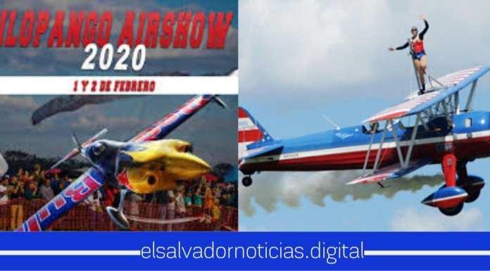 Salvadoreños disfrutan de las mega maniobras del talento nacional en el Airshow Ilopango 2020