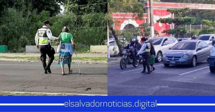 Gestores del VMT brindan ayuda inmediata a ciudadanos de la tercera edad para cruzarlos las calles en cualquier punto del país